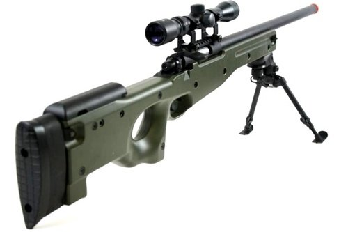 Cheap Airsoft Rifle With Scope and Bipod
