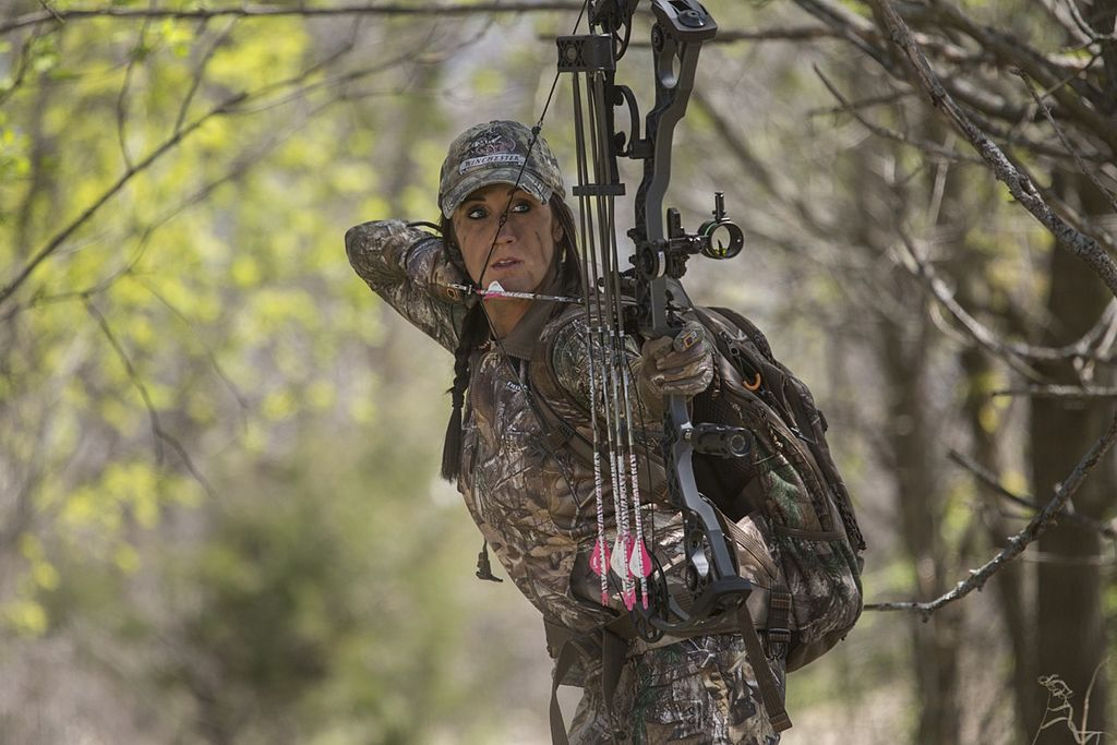 Melissa Bachman bow hunting in camouflage