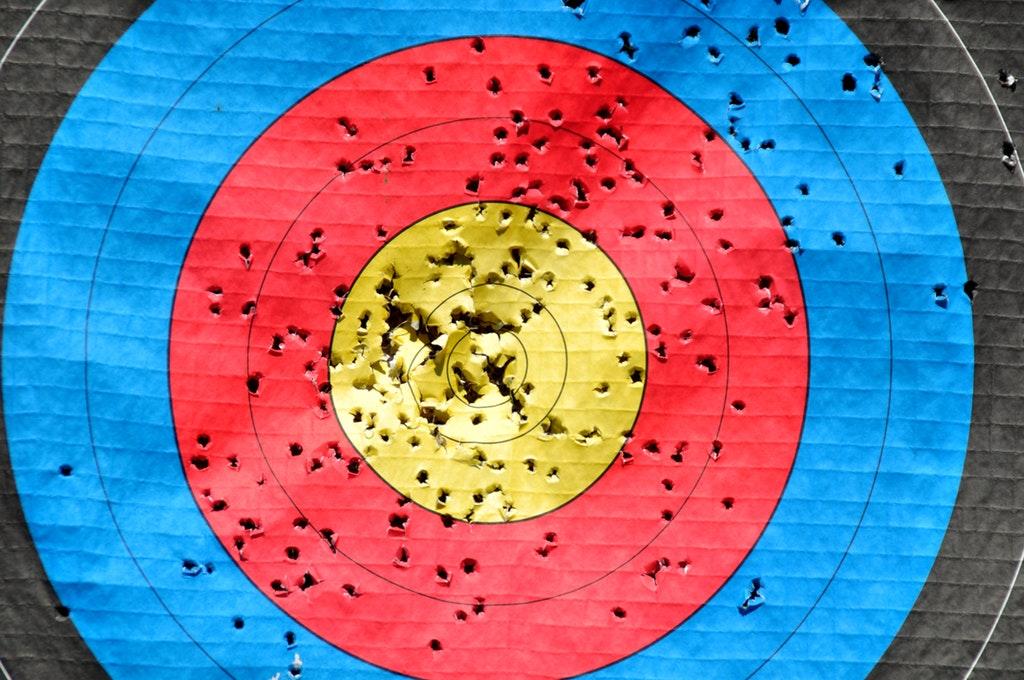 archery art bullseye