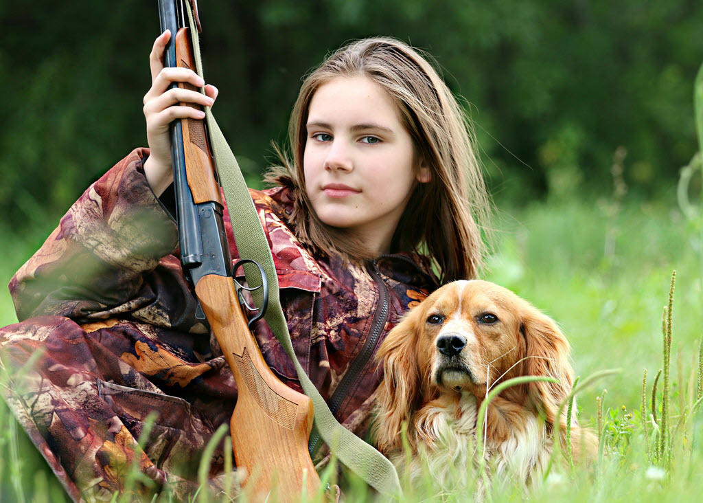 duck hunter with dog