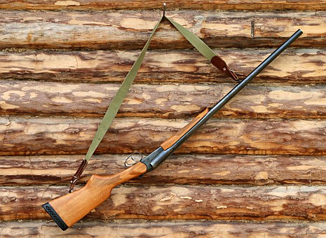 shotgun weapons logs hunting brown