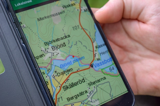 screen of the best handheld gps for hunting and fishing