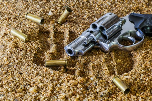 Grey revolver pistol