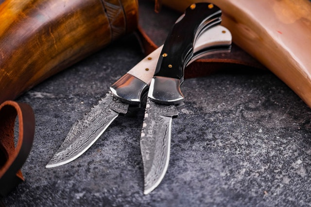 two hunting knives